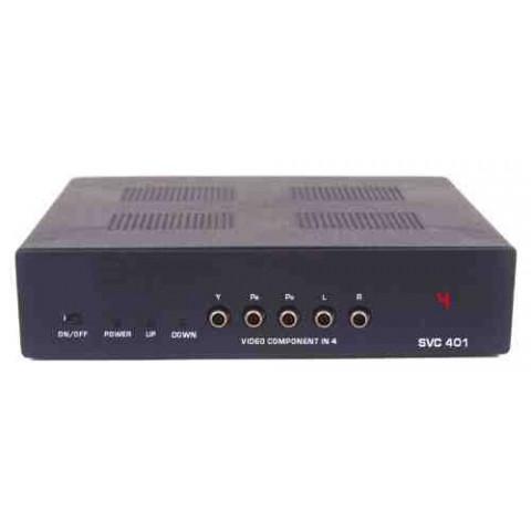 SELETOR DE VIDEO COMPONENTE+AUDIO 4-IN X 1-OUT  S/ CONTROLE REMOTO - SVC-401A