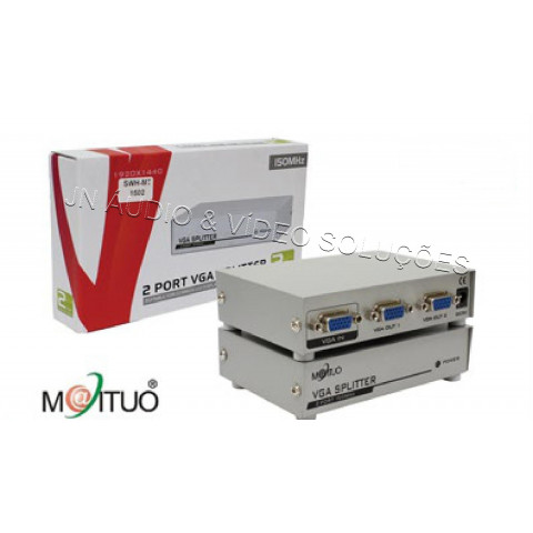 SELETOR DE VIDEO MANUAL MECANICO VGA/WXGA 2-IN X 1-OUT - SWH-MT-15-2C