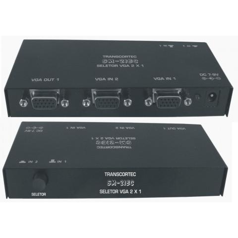 SELETOR DE VIDEO MANUAL VGA/WXGA  2-IN X 1-OUT - SM21EC