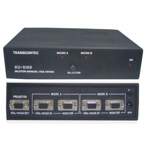 SELETOR DE VIDEO MANUAL VGA/WXGA COM BY-PASS 2-IN X 1-OUT - SM210E