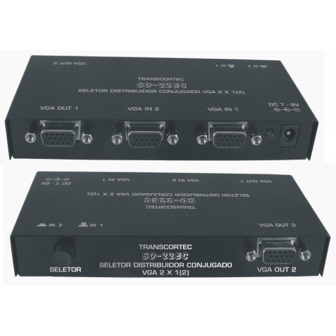 SELETOR/DISTRIBUIDOR DE VIDEO VGA/WXGA  2-IN X 2-OUT - SD22EC