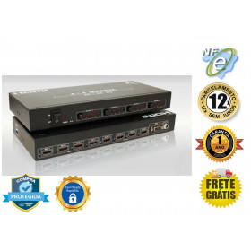MATRIZ DE VIDEO HDMI 4K@60HZ 4-IN X 4-OUT C/ EXTRAÇÃO DE AUDIO E CONTROLE REMOTO AS-MX44