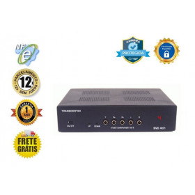 CHAVEADOR DE VIDEO COMPONENTE YPBPR + AUDIO 4-IN X 1-OUT  SVC-401A