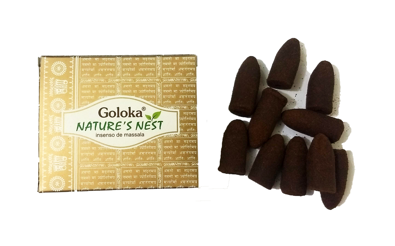 0525 - Incenso Goloka Cone p/ Incensário Cascata Nature's Nest