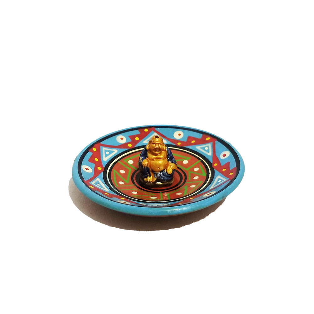 MC3028-02 - Incensário Cerâmica Peruana c/  Buda