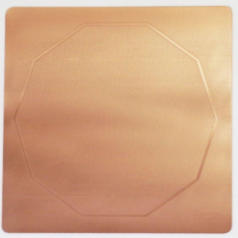 EG9901 - Gráfico Radiônico de Cobre (Decágono)