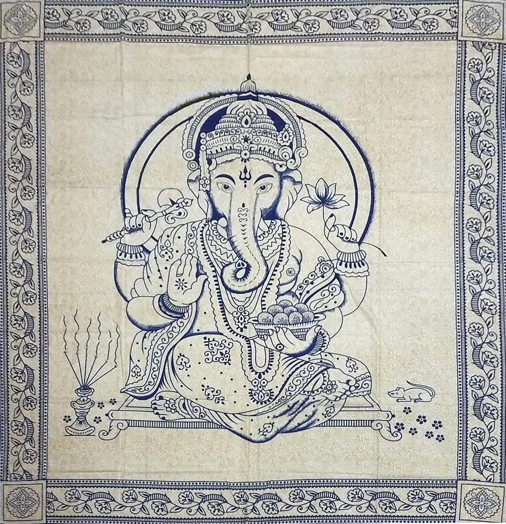 JMD806-29 - Toalha Indiana Ganesh Azul