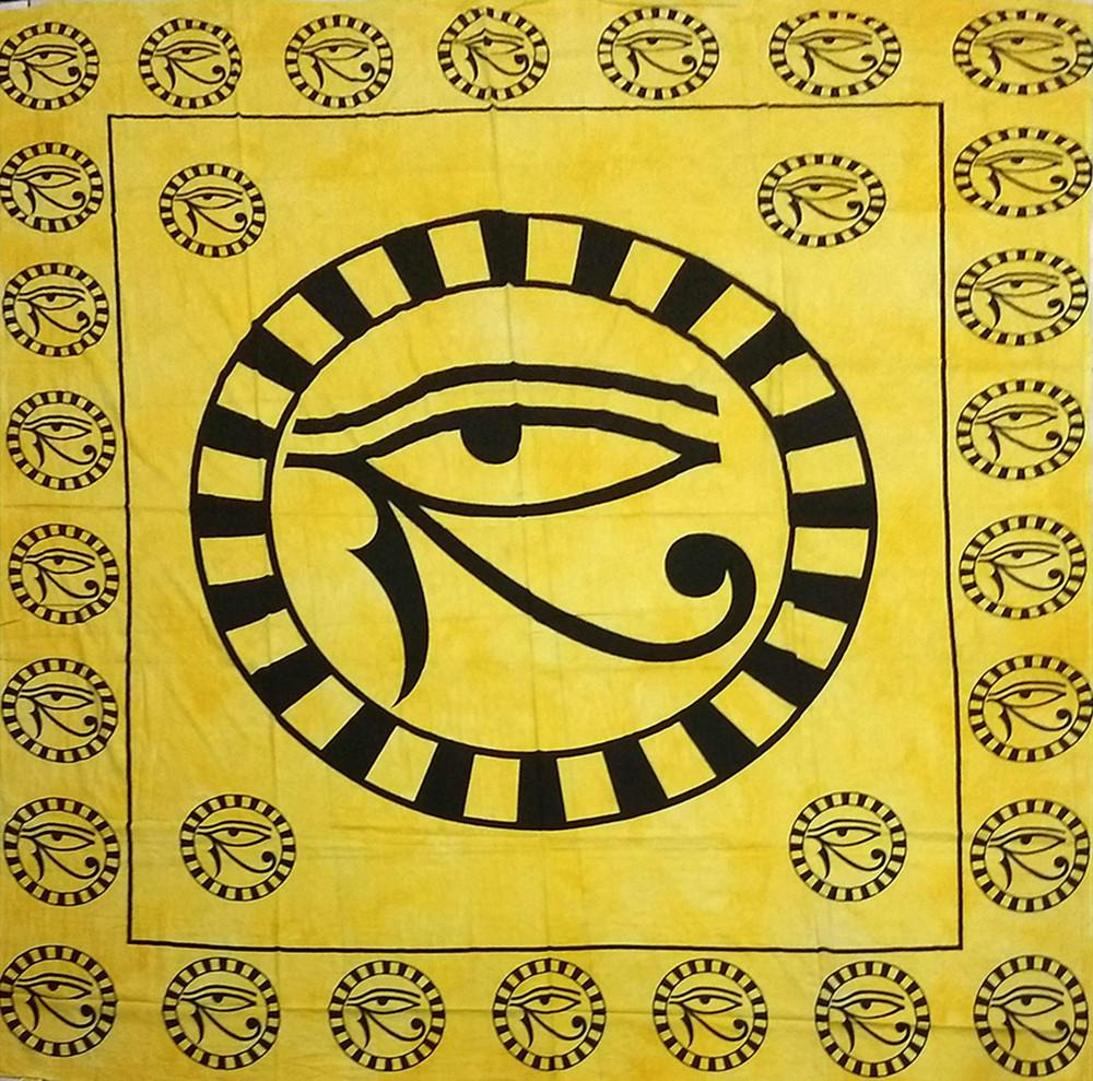 JMD806-03 - Manta Indiana Olho De Hórus Amarela