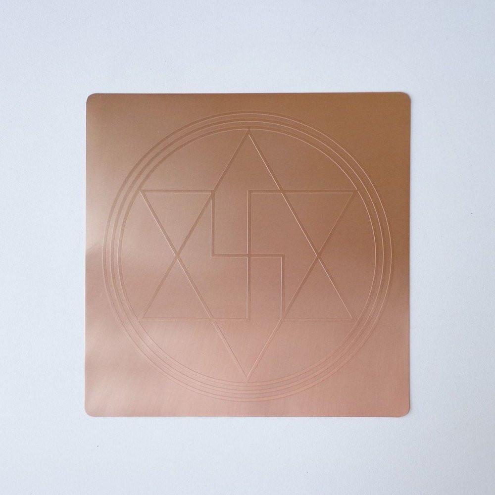 EG9914 - Gráfico Radiônico de Cobre (Selo de Salomão - Anti Magia)