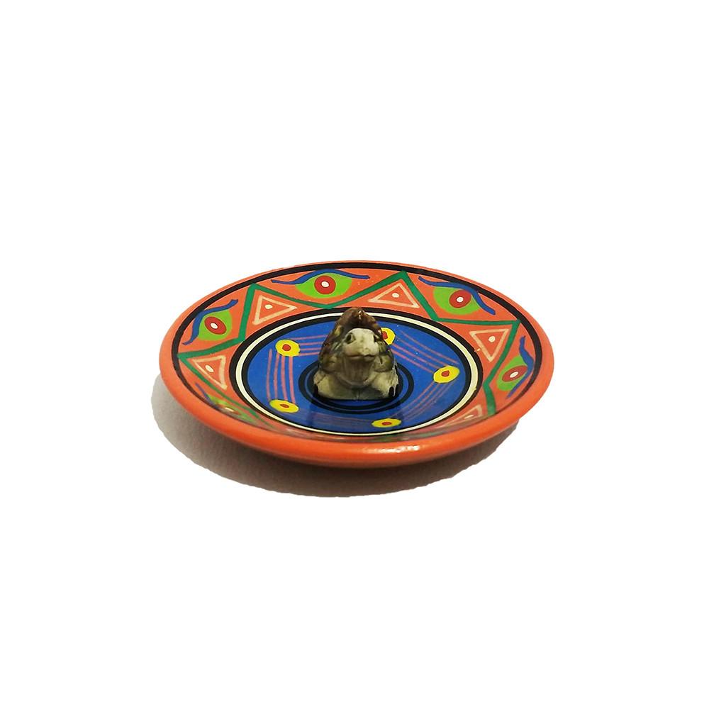 MC3028-06 - Incensário Cerâmica Peruana c/  Tartaruga