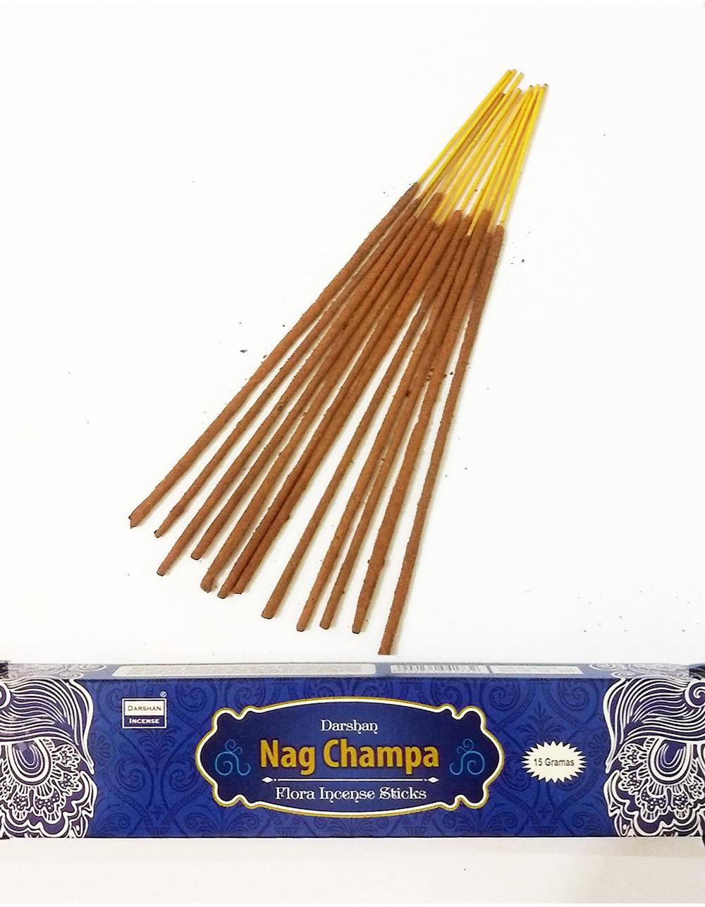 1121 - Incenso Massala Nag Champa Darshan (15Gramas) Cx = 12 unid