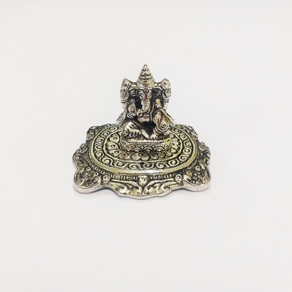 DH15G- Incensário  Metal (P) Ganesh