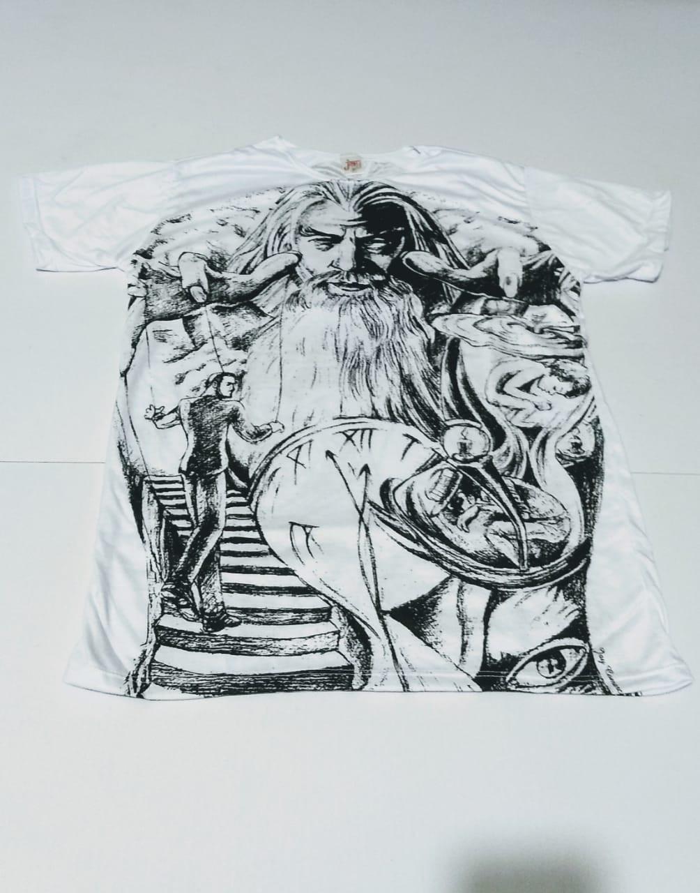 JA008 - Camiseta Branca (Mago c/ Relógio)