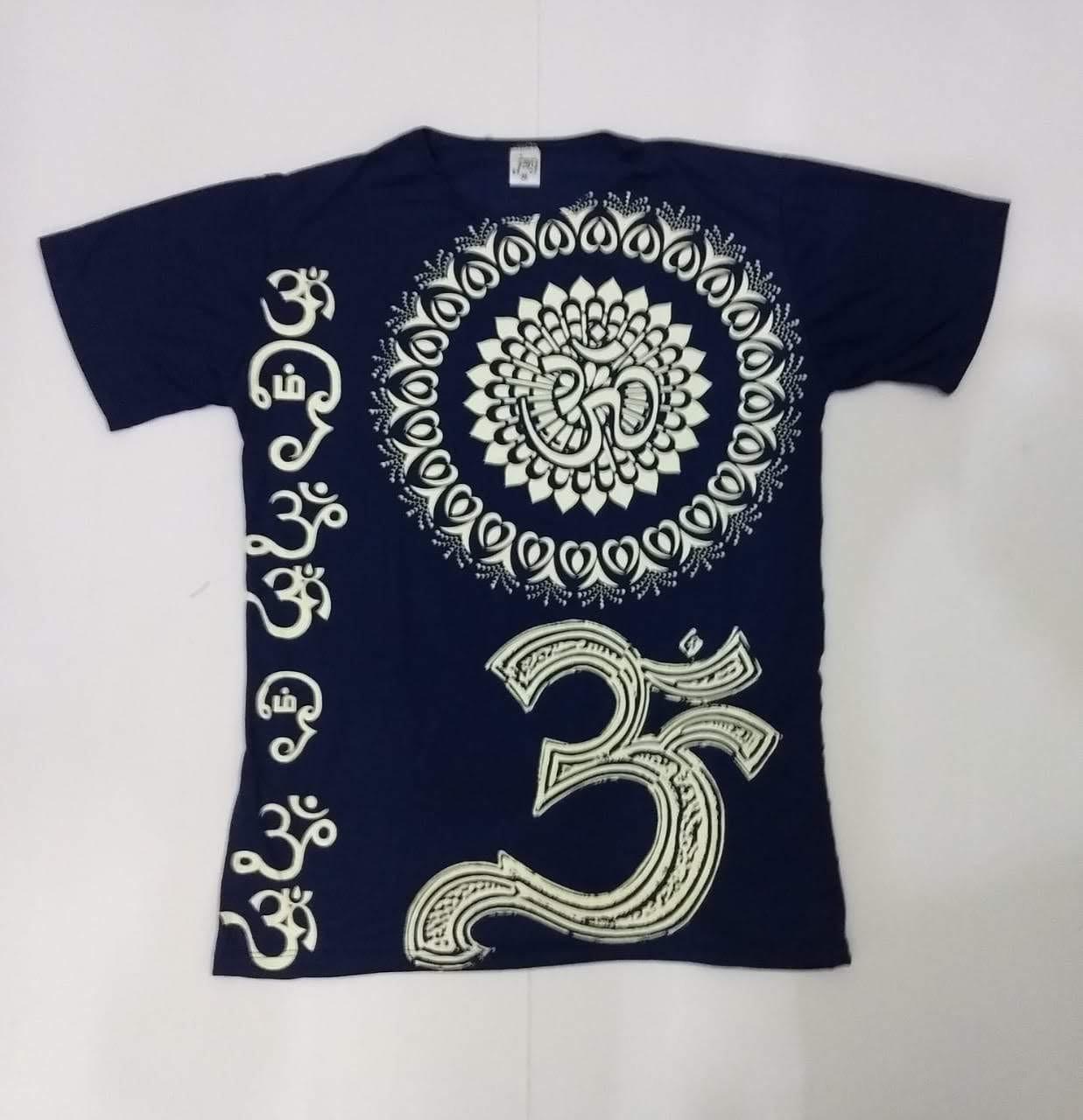 JA014 - Camiseta Azul (Mandala c/ OM)