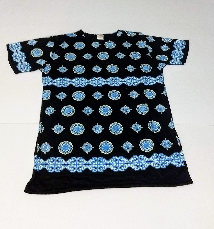 JA028 - Camiseta Preta (Símbolos Azuis)