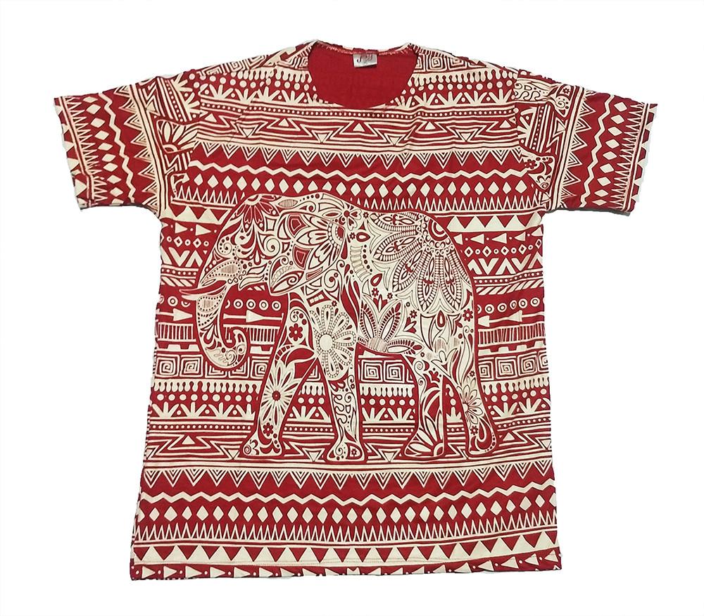 JA105 - Camiseta Vermelha (Elefante)