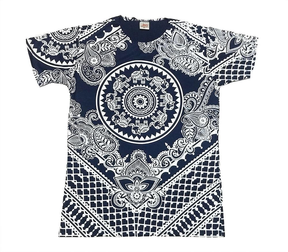 JA151 - Camiseta Azul (Elefantes no Circulo)