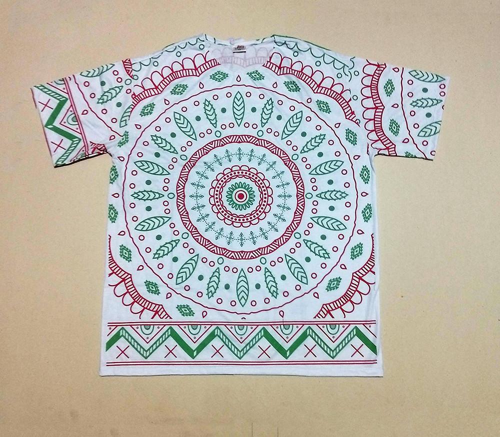 JA153 - Camiseta Branca (Circulos c/ Folhas)