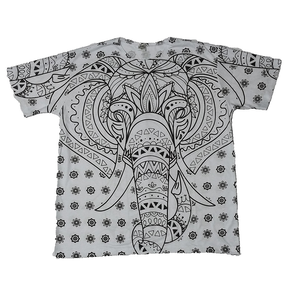 JA155 - Camiseta Branca (Cabeça de Elefante)