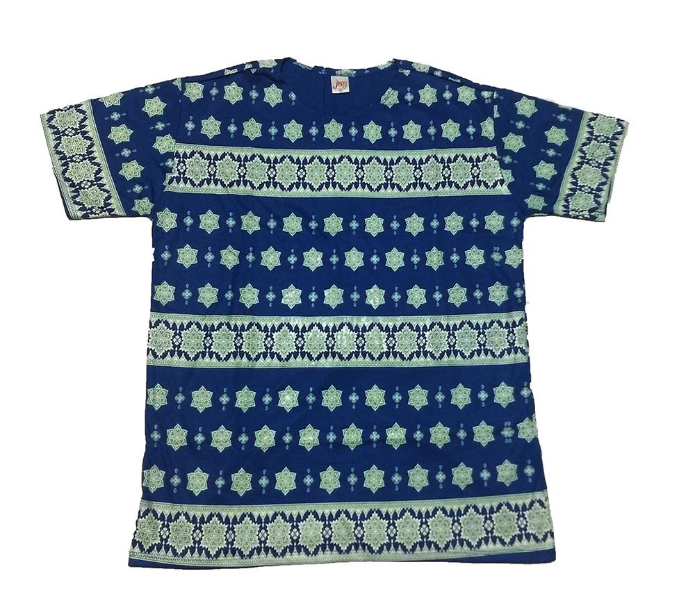 JA157 - Camiseta Azul (Faixas)