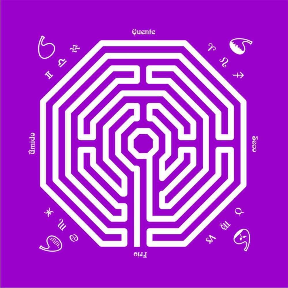 EG001-11 - Toalha p/ Tarot Labirinto Roxa