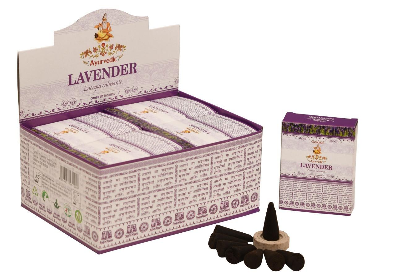 0383 - Incenso Goloka Cone Lavender