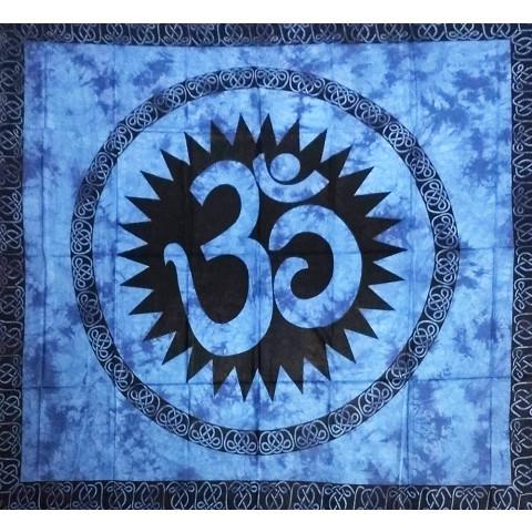 JMD806-12 - Manta Indiana Símbolo OM Azul Escuro