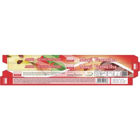3721 - Incenso Indiano Darshan Maça Vermelha