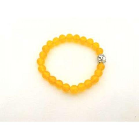 CPNA08544622 - Pulseira T8 Jade Amarela c/ Buda