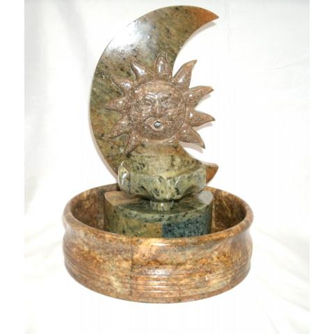 FA001-09 - Fonte de Pedra Sabão Meia Lua c/ Sol