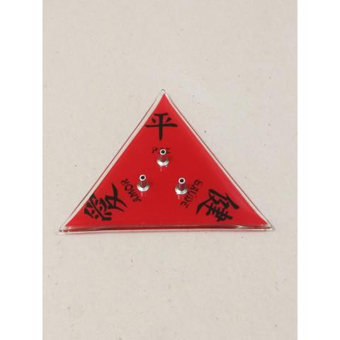 H1062 - Incensário de Vidro Triangular Feng Shui