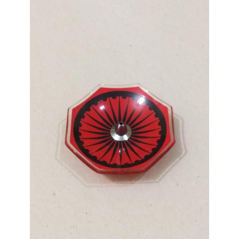 H1022 - Incensário de Vidro Vertical Oitavado Roda da Vida