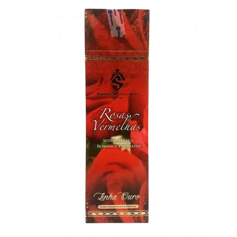 1096 - Incenso Indiano Shankar Rosa Vermelha