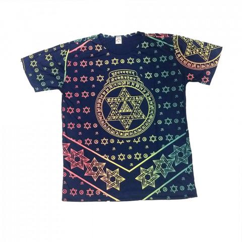 JA051 - Camiseta Azul (Estrela de Davi)
