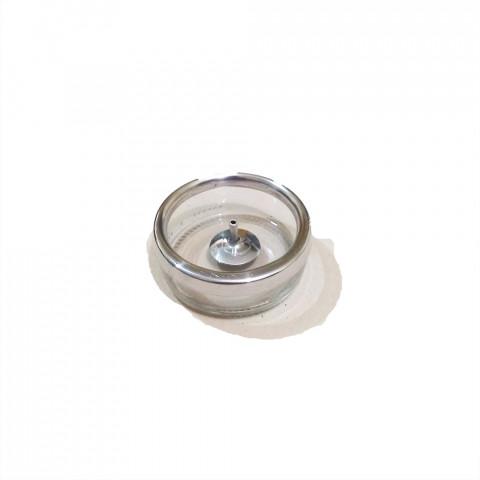 CI3035-04 - Incensário Redondo de Vidro (Transparente)