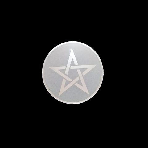 CI3030-01 - Mandala Espelho Jateado Pentagrama