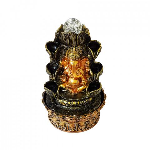 BP17409 - Fonte Ganesh Cascata Dourado C/ Bolinha