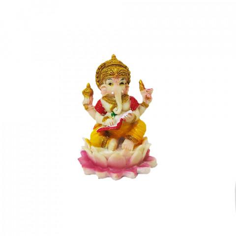 BP8389D - Escultura Pequena Ganesh Escrevendo Colorido (6cm)
