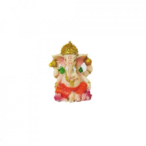 BP8389E - Escultura Pequena Ganesh Sentado Colorido (6cm)
