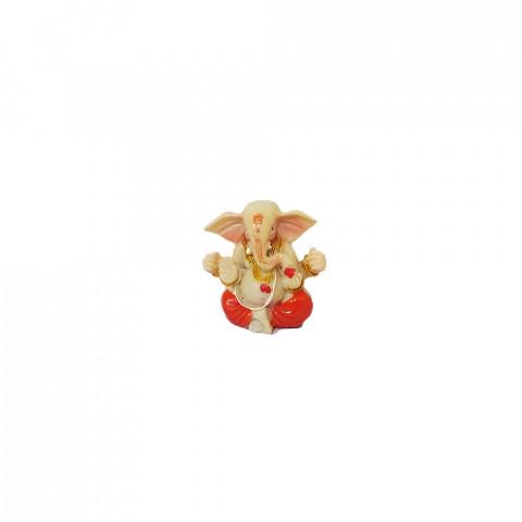 BP8390F - Mini Escultura Ganesh Laranja (4cm)
