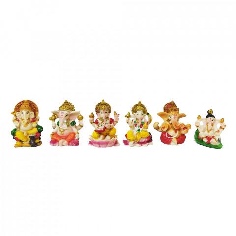 BP8389 - Kit c/ 6un Ganeshas Coloridos