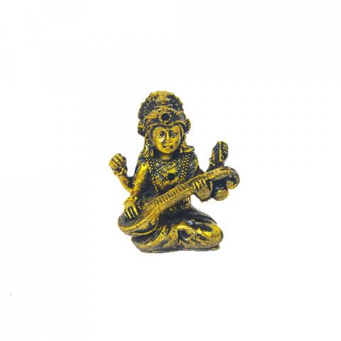 BP17468A - Escultura Pequena Saraswati Dourada (7cm)