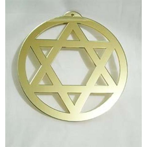 MA4102-21 - Mandala Hexagrama Vazado Dourado