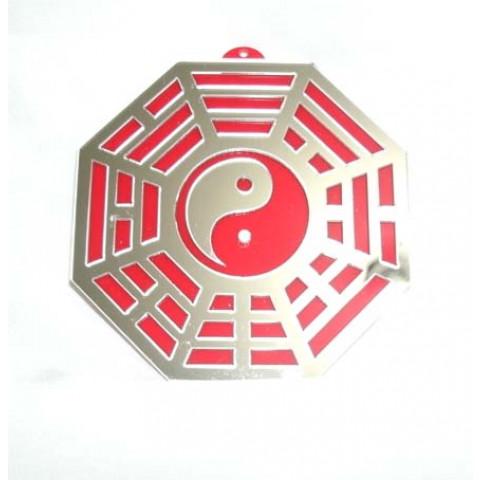 MA4103-05 - Baguá Acrílico Espelhado Vermelho (11.5cm)