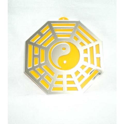 MA4104-03 - Baguá Acrílico Espelhado Amarelo (9cm)