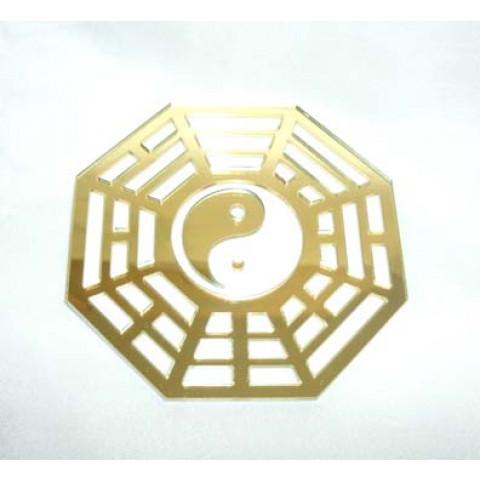 MA4104-04 - Baguá Acrílico Espelhado Dourado (9cm)