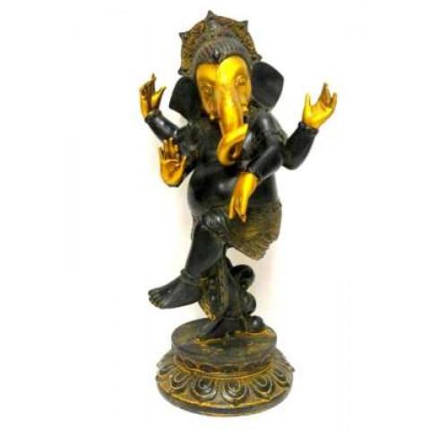 CPA040439475 - Ganesh Dançando Preto/Dourado (28580)