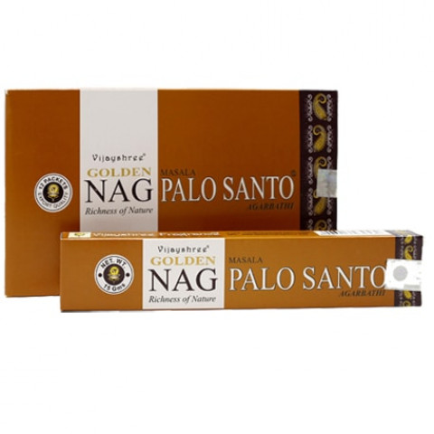 0721 - Incenso Massala Golden Nag Palo Santo