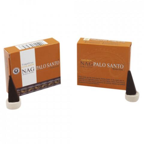 0197 - Incenso Golden Nag Cone Palo Santo