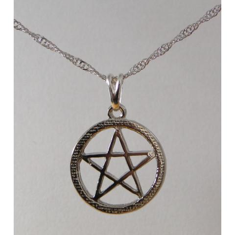 SH5602 - Gargantilha Pentagrama c/ Aro